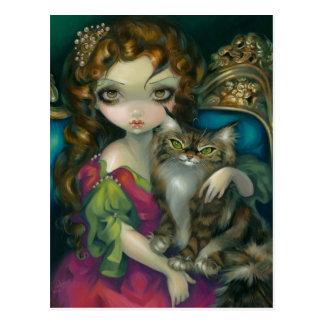 Princesa con la postal de Maine de un gato de Coo
