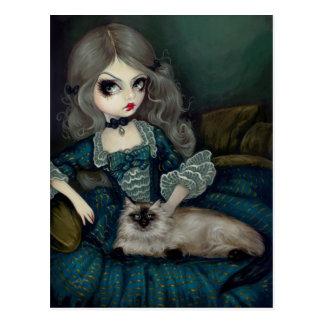 """""""Princesa con la postal de un gato Himalayan"""""""