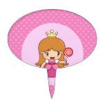 Princesa con los corazones figura de tarta