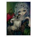 """""""Princesa con tarjeta de felicitación de un gato d"""