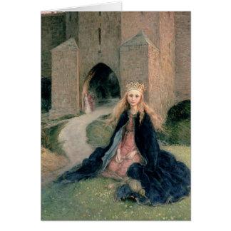 Princesa con un eje tarjeta