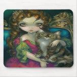 """""""Princesa con un gato de Coon de Maine"""" Mousepad Tapetes De Ratón"""