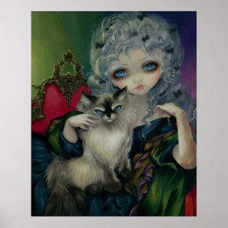 Princesa con una IMPRESIÓN del ARTE del gato de Ra Posters