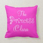 Princesa conocida personalizada Clara Pillow Almohadas