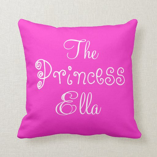 Princesa conocida personalizada Ella Pillow Cojines