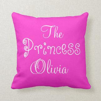 Princesa conocida personalizada Olivia Pillow Cojín