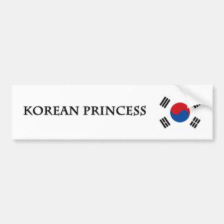 Princesa coreana pegatina para auto