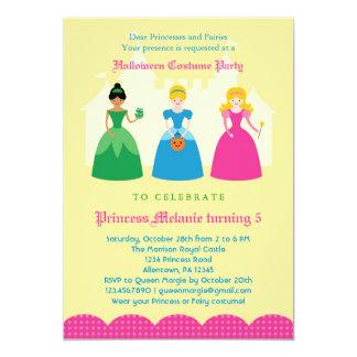"""Princesa Costume Party Invitation de Halloween Invitación 5"""" X 7"""""""