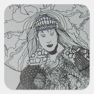 Princesa CricketDiane Art Designer Products de la Pegatina Cuadrada