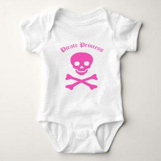 Princesa Crossbones del pirata Body Para Bebé