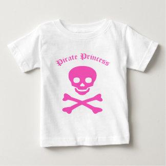 Princesa Crossbones del pirata Playera De Bebé
