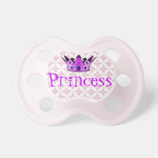 Princesa Crown Baby Pacifier Chupetes