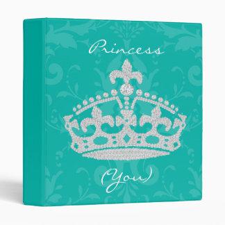"""Princesa Crown Binder del diamante del damasco de Carpeta 1"""""""