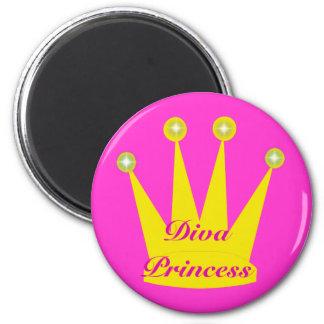 Princesa Crown de la diva Imán Redondo 5 Cm