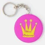 Princesa Crown de la diva Llavero Personalizado