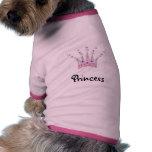 Princesa Crown Dog Shirt Camisetas De Perrito
