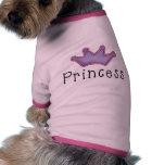 Princesa Crown Dog Tees Ropa Para Mascota