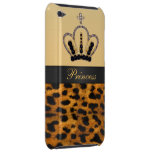 Princesa Crown Leopard Fur Photo Case-Mate iPod Touch Protector