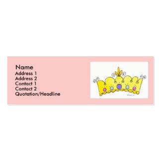 Princesa Crown Profile Cards Tarjetas De Visita Mini