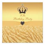 Princesa Crown y cumpleaños de la impresión del Invitación 13,3 Cm X 13,3cm