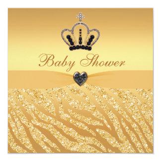 """Princesa Crown y fiesta de bienvenida al bebé de Invitación 5.25"""" X 5.25"""""""