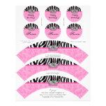 Princesa Crown Zebra de las envolturas de la magda Membrete A Diseño