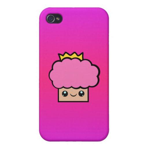 Princesa Cupcake de Kawaii iPhone 4/4S Funda