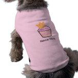 Princesa Cupcake del cumpleaños Ropa De Mascota