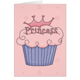 Princesa Cupcake - modificada para requisitos Tarjeta De Felicitación