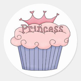 Princesa Cupcake Pegatina Redonda