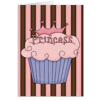 Princesa Cupcake Tarjeta De Felicitación