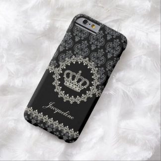 Princesa Damask Crown del vintage Funda Barely There iPhone 6
