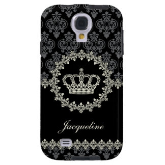 Princesa Damask Crown del vintage Funda Para Galaxy S4