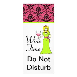 """Princesa Damask Do Not Disturb del tiempo del vin Tarjeta Publicitaria Personalizada"