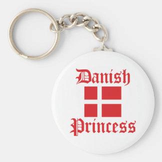 Princesa danesa llavero redondo tipo pin