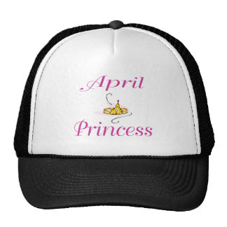 Princesa de abril gorros