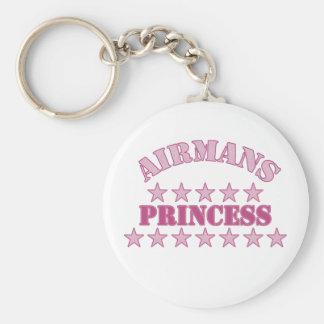 Princesa de Airmans Llavero Redondo Tipo Pin