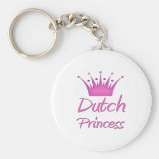 Princesa de Antillian del holandés Llavero Redondo Tipo Pin