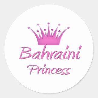 Princesa de Bahrein Etiqueta Redonda