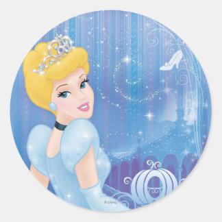 Princesa de Cenicienta Pegatina Redonda