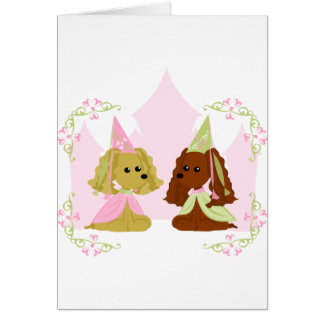 Princesa de cocker spaniel tarjeta de felicitación