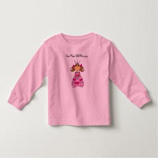 Princesa de cuatro años camisas