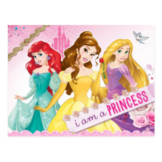 Princesa de Disney el | Ariel, belleza y Rapunzel Postal
