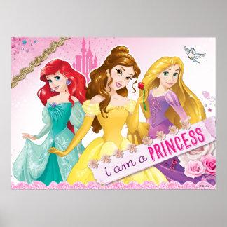 Princesa de Disney el   Ariel, belleza y Rapunzel Póster