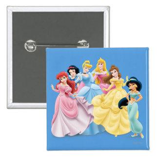 Princesa de Disney el   vestido para impresionar Pin Cuadrado