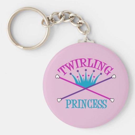 Princesa de giro llavero personalizado
