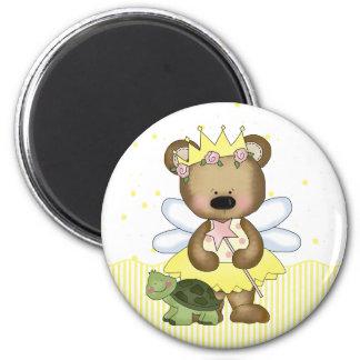 Princesa de hadas amarilla Magnet del oso de peluc Iman De Frigorífico