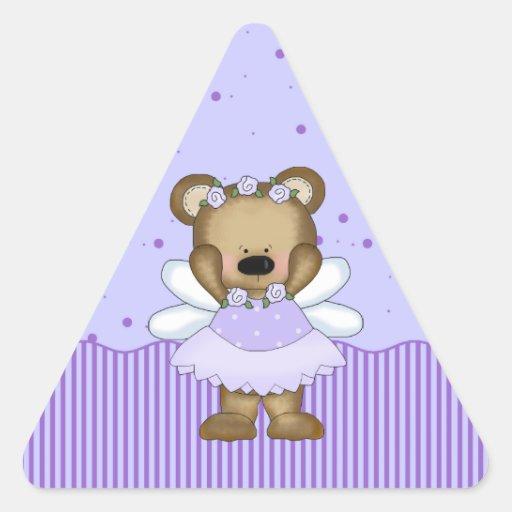 Princesa de hadas azul Triangle Stickers del oso d Colcomanias De Triangulo
