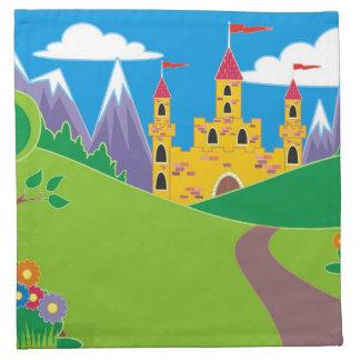 Princesa de hadas bonita Castle Servilleta Imprimida