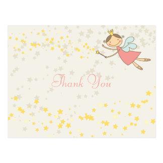 Princesa de hadas caprichosa Girl Birthday Thank Tarjetas Postales